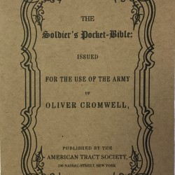 The Soldier's Pocket Bible is the 1864 version by the American Tract Society