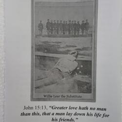 Willie Lear the Substitute is a true story printed into a modern tract with a salvation invitation.