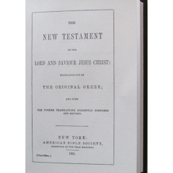 Union New Testament is Hardbound reprint of 1861 American Bible Society, New York, New Testament