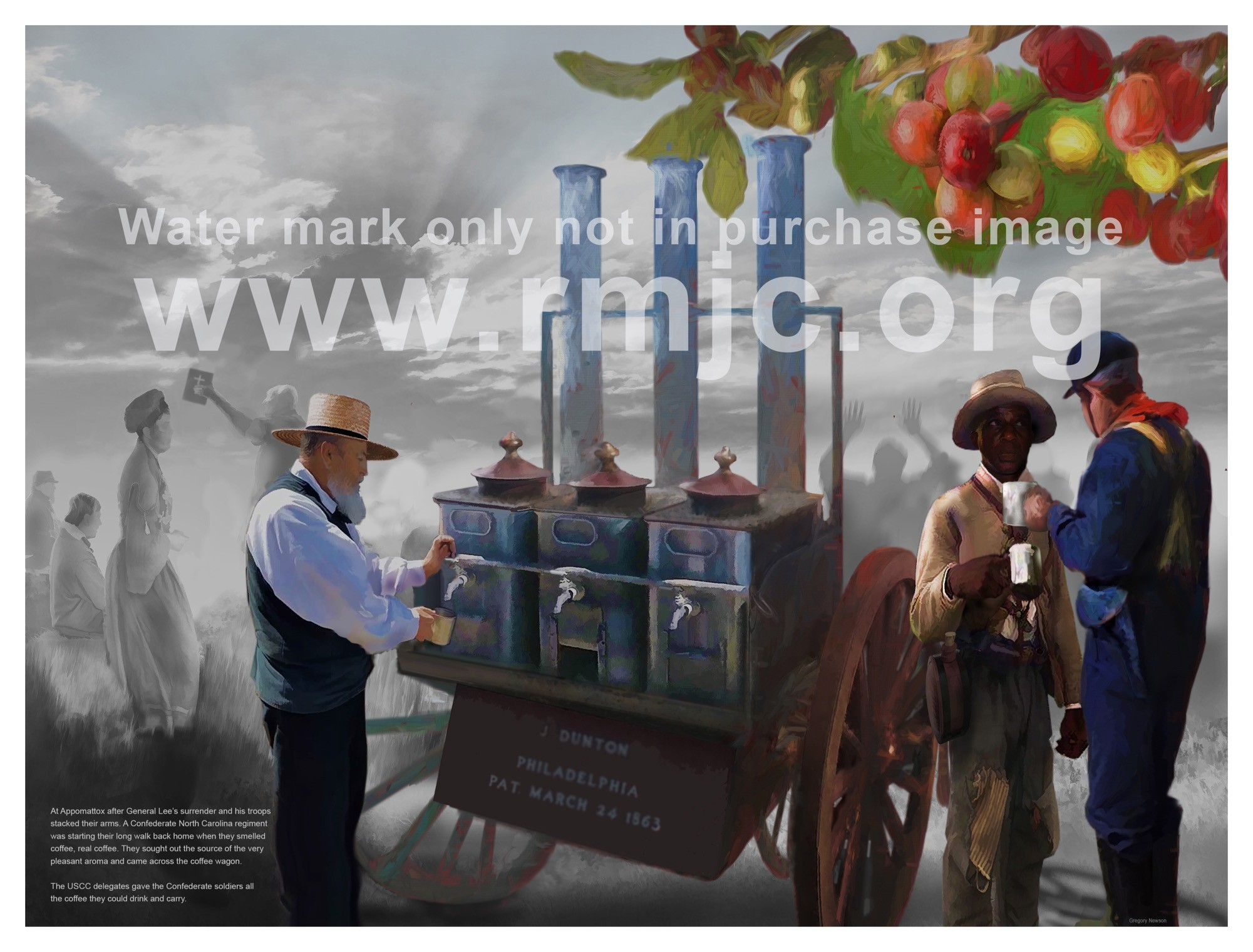 Original Comissioned Artwork of the Coffee Wagon titled Reconciliation